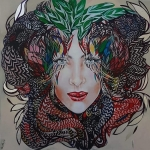 giclee - Medusa's Mother- 80x80 cm