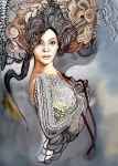 plakat - Madame Butterfly B - Popdivy - 50x70 cm