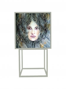 Rita silk-grey - szafka 1d - Art in loft